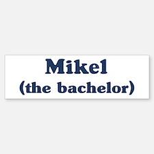 Mikel the bachelor Bumper Car Car Sticker