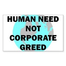 HUMAN NEED Rectangle Decal