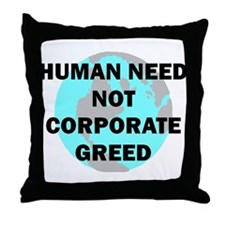 HUMAN NEED Throw Pillow