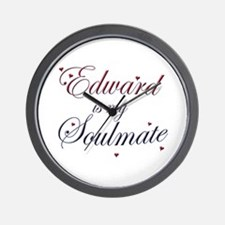 Edward is my soulmate Wall Clock