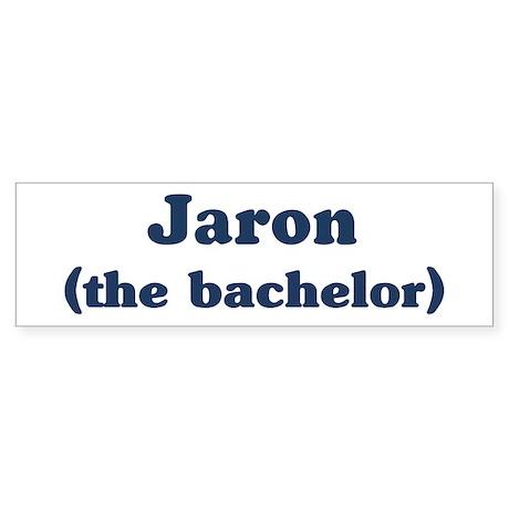 Jaron the bachelor Bumper Sticker