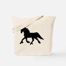Black Friesian Tote Bag