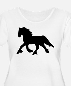 Black Friesian T-Shirt