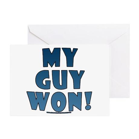 My Guy Won! Obama tees & gifts Greeting Card