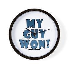 My Guy Won! Obama tees & gifts Wall Clock