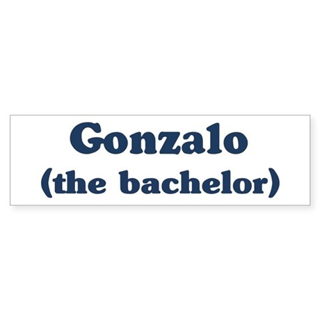 Gonzalo the bachelor Bumper Sticker