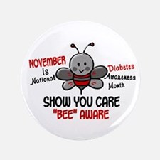 "Diabetes Awareness Month 4.1 3.5"" Button"