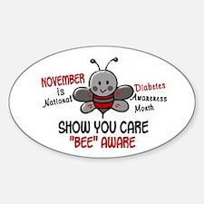 Diabetes Awareness Month 4.1 Oval Decal