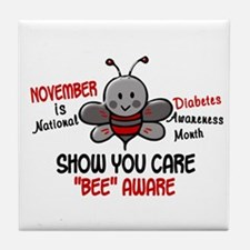 Diabetes Awareness Month 4.1 Tile Coaster