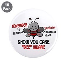 "Diabetes Awareness Month 4.1 3.5"" Button (10 pack)"