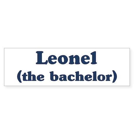 Leonel the bachelor Bumper Sticker
