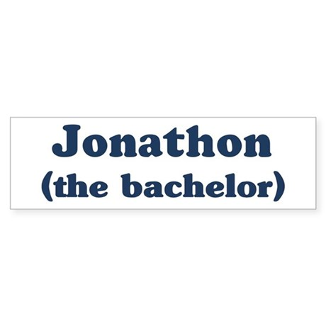 Jonathon the bachelor Bumper Sticker