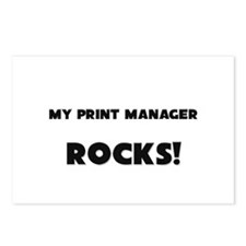 MY Print Manager ROCKS! Postcards (Package of 8)