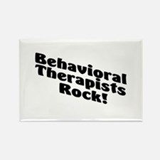 Behavioral Therapist Rock! Rectangle Magnet