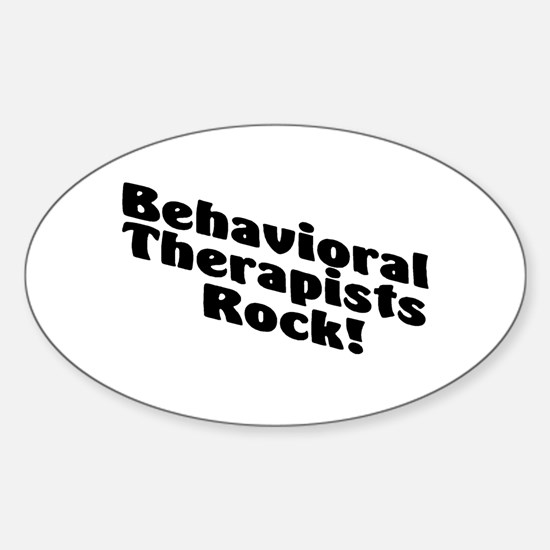 Behavioral Therapist Rock! Oval Decal