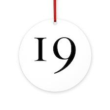 19 v2 Ornament (Round)