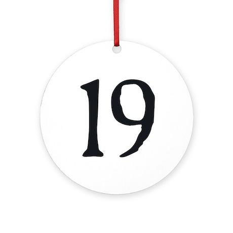 19 v1 Ornament (Round)