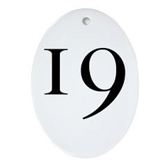 19 v2 Oval Ornament