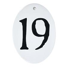 19 v1 Oval Ornament