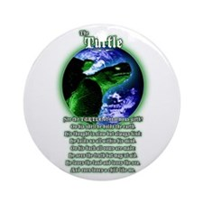 """The Turtle"" poem Ornament (Round)"