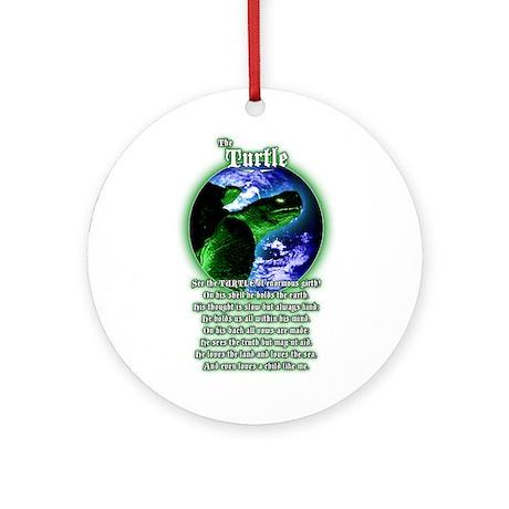 """The Turtle"" poem Ornament (Round)"