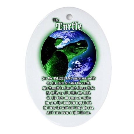 """The Turtle"" poem Oval Ornament"