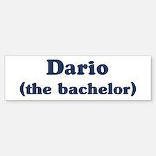 Dario the bachelor Bumper Bumper Bumper Sticker