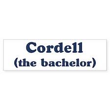 Cordell the bachelor Bumper Bumper Sticker