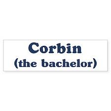 Corbin the bachelor Bumper Bumper Sticker