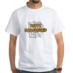 Happy Halloweenie White T-Shirt