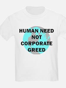 Koy's Logo + Human Need Kids T-Shirt
