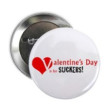 """V-Day is for Suckers! 2.25"""" Button"""