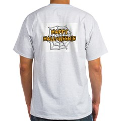 Happy Halloweenie Ash Grey T-Shirt