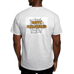 Happy Halloweenie Ash Grey T-Shirt