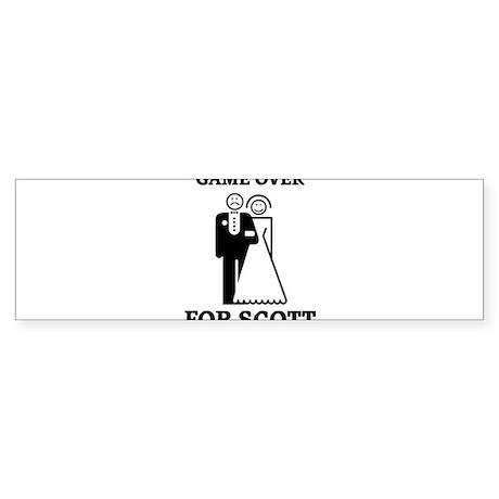 Game over for Scott Bumper Sticker