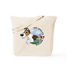 Agility Sheltie Cartoon Tote Bag
