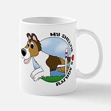 Agility Sheltie Cartoon Mug