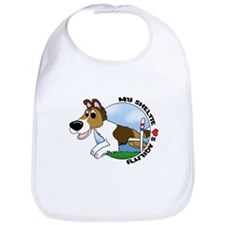 Agility Sheltie Cartoon Bib