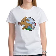 Cartoon Vizsla Agility Tee