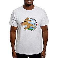 Cartoon Vizsla Agility T-Shirt