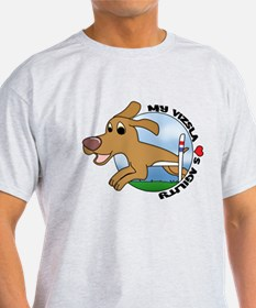 Cartoon Vizsla Agility T-Shirt
