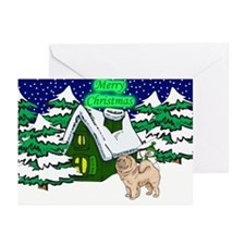 Country Chow Chow Christmas Greeting Cards (Pk of