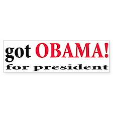 Got Obama for President Bumper Bumper Sticker
