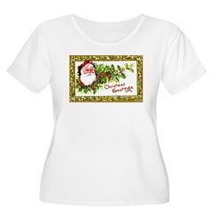 Santa Christmas Greetings T-Shirt