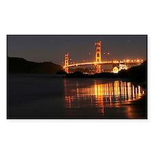 Golden Gate from Barker Beach Rectangle Decal