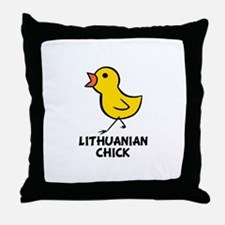 Lithuanian Chick Throw Pillow