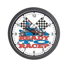 Go Kart Ready to Race Wall Clock