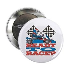 """Ready to Race Go Kart 2.25"""" Button (10 pack)"""