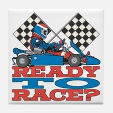 Ready to Race Go Kart Tile Coaster