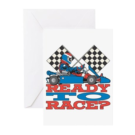 Ready to Race Go Kart Greeting Cards (Pk of 10)